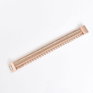 Ball Mix Chain Wrap Cuff Rose Gold