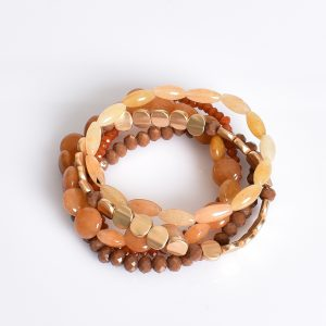 Stone & Bead Multi Set Bracelet