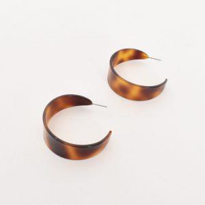 Flat Resin Hoop Earring