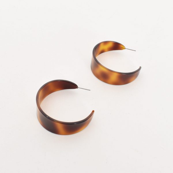 Flat Resin Hoop Earring