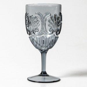 Acrylic Wine Glass Grey
