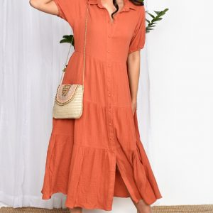 Adorne dress Molly dress rust ladieswear East Gosford
