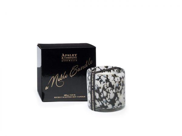Santorini luxury candle Marine black pepper patchouli scents