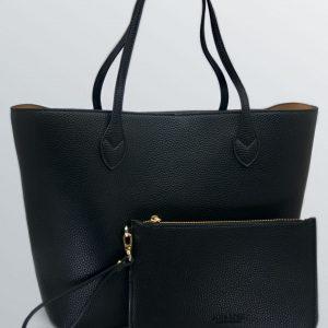 Aura Rose Daisy Black Bag
