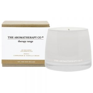 "Cinnamon & Vanilla Bean ""Balance"" scented candle by The Aromatherapy Co"