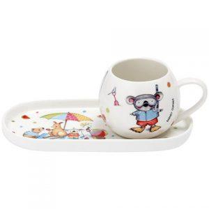 Barney Gumnut Summer Holiday Mug And Plate Set