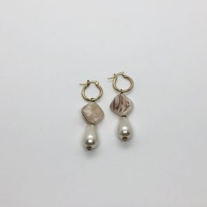 Bead & Pearl Drop Earrings