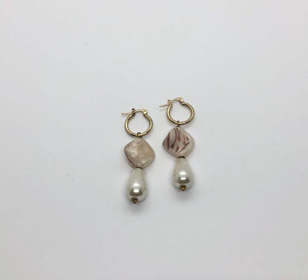 Bead & Pearl Drop Earrings