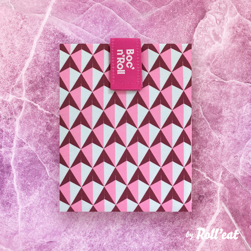 IOco Boc'N'Roll Reusable Sandwich Wrap Pink Graphic