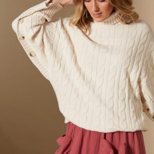 isle of mine clarity cable knit creme womens winter fashion