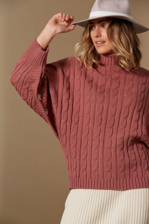 ISLE OF MINE CLARITY CABLE KNIT CLAY