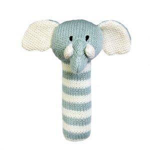 Charlie Elephant Stick Rattle Lily & George