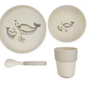 Kids dining 4 pce set bambooware non toxic