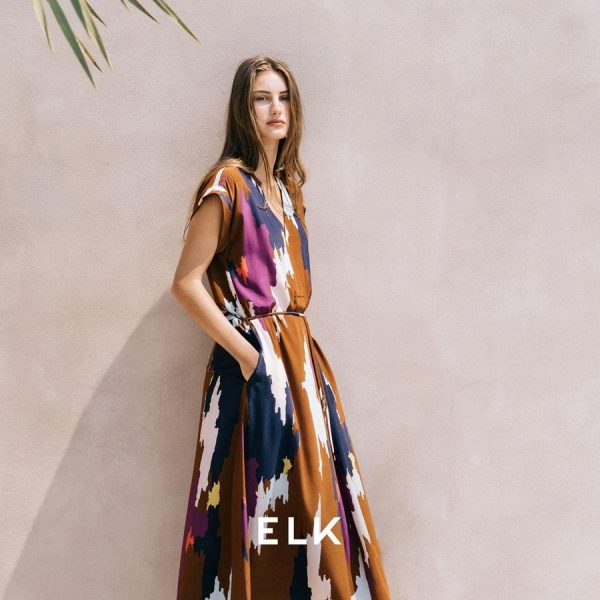 ELK Ikat Maxi dress