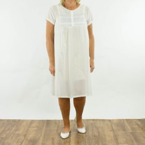 Nightie French Country white cap sleeves East Gosford