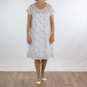 French Country Nightie Cap 105 Scatter Flower