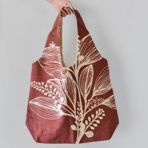 Slub Cotton Shopper Foliage Bag