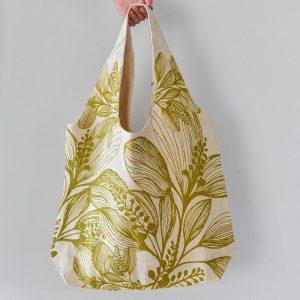 Slun Cotton Shopper Foliage Green Bag