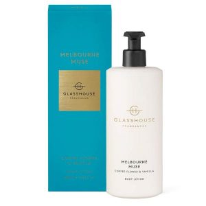 Glasshouse fragrance body lotion luxurious body lotion Melbourne Muse coffee flower & vanilla