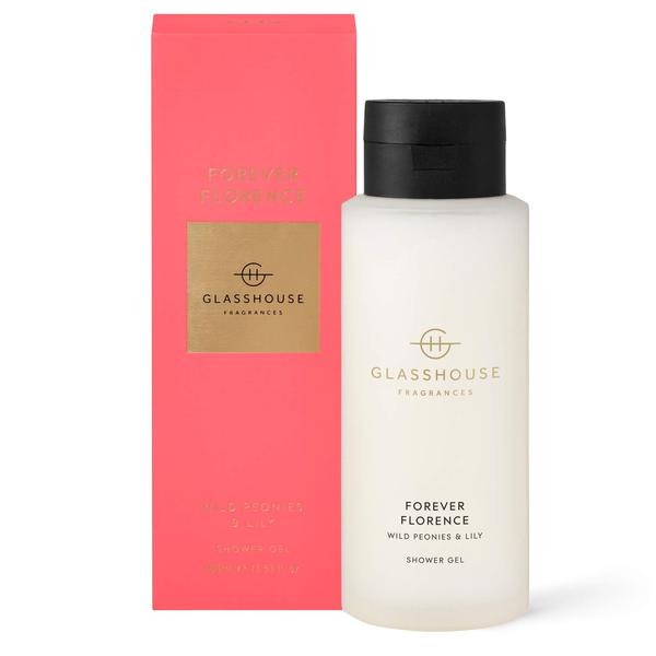 Glasshouse fragrances shower gel luxury shower Forever Florence wild peonies and lily