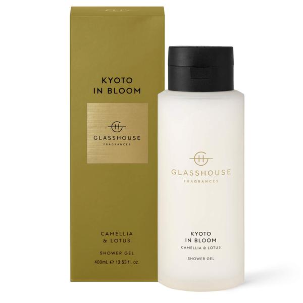 Glasshouse fragrance shower gel luxury shower Kyoto in Bloom camelia and lotus
