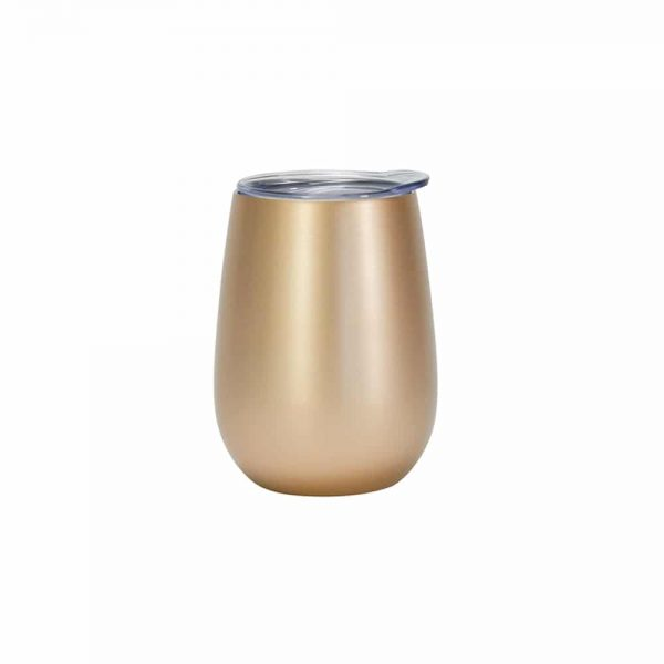 Gold Wine Tumbler Double Walled Stainless Steel Annabel Trends