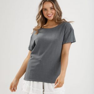 Homelove Fancy Free Tee charcoal