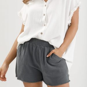 Homelove Footloose Shorts Charcoal