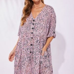 Haven Havana Dress Havana Pink Women's Fashion