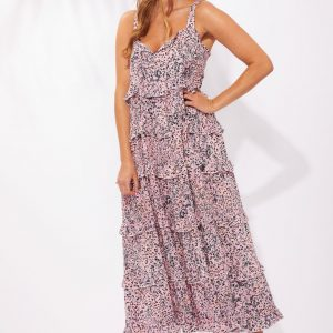 Haven Havana Frill Maxi Havana Pink Women's Fashion