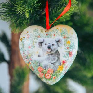 La La Land Heart Shape Bauble Love From Down Under Christmas
