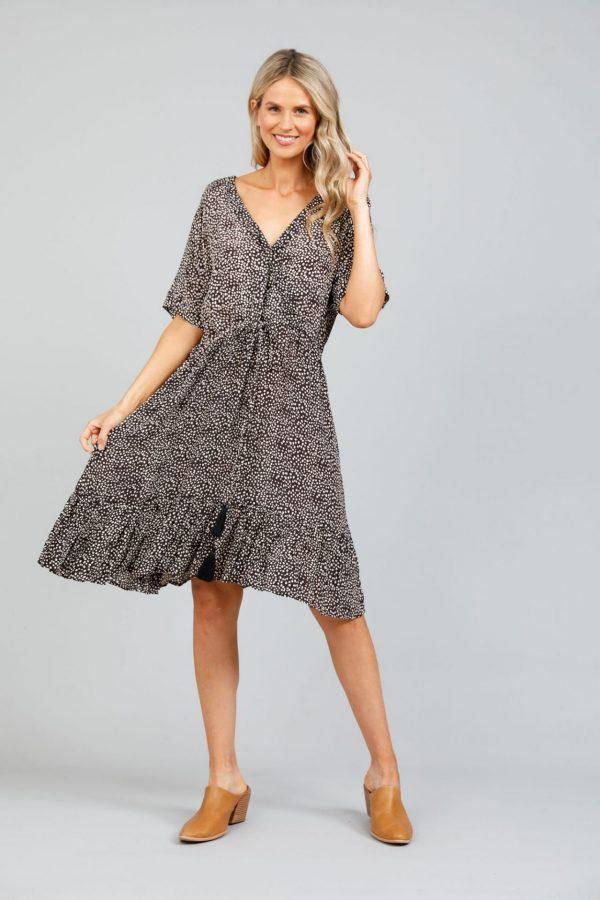 Holiday Boardwalk Dress Coco Seaside Print Ladies Fashion