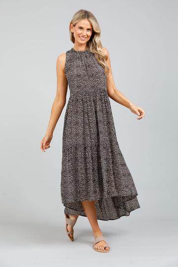 Holiday Trading Margot Dress Coco Seaside Print Ladies Fashion