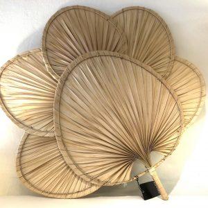Palm Leaf Fan Shaped Wall Decor Natural