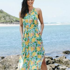 Lulalife Citrus Midi Dress