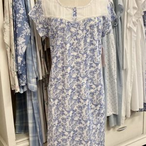 French Country Sleepwear Capped Sleeve Nightie Summer Paisley