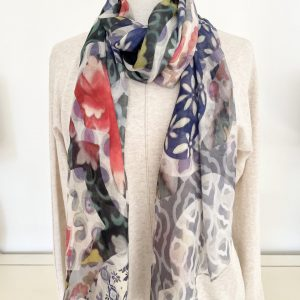 Oriental Collage scarf designed by Oana Soare for The Artists Label
