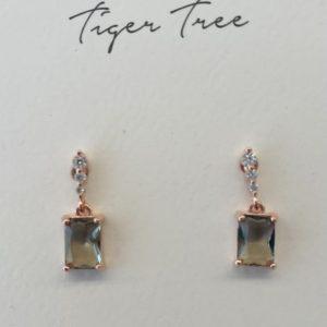 Tiger Tree Sage Crystal drop earrings