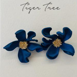 Tiger Tree Midnight Blue Wild Flower Stud earrings