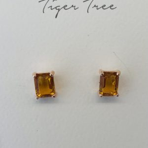 Tiger Tree Amber Midi Crystal Stud earrings