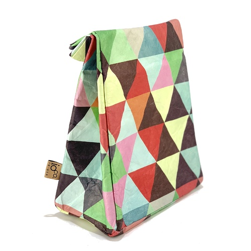 IOco Old School Insulated Lunch Bag Triangles