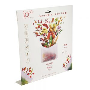 Flat Reusable Food Bags with Zip Lock by IOco