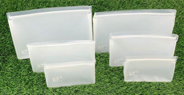 IOco Reusable Food bags Set 6 Stand Up Zip Lock