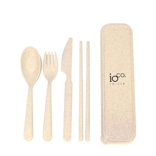 IOco Wheat Straw Fibre Cutlery Set Natural