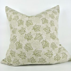 Japandi Maple Pickled Green Artisan Cushion