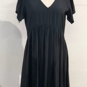 KILL ME SOFT TIER EMPIRE DRESS BLACK