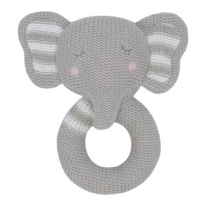 soft knitted rattle toy eli the elephant central coast nsw