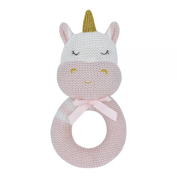 soft knitted rattle toy kenzie the unicorn central coast nsw
