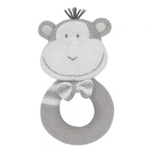 soft knitted rattle toy max the monkey