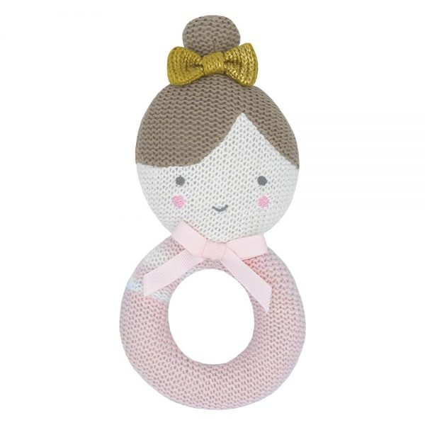 soft knitted rattle toy sophia the ballerina central coast nsw